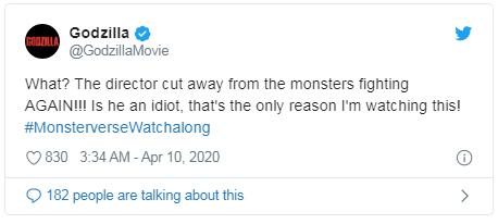 again tweet Godzilla