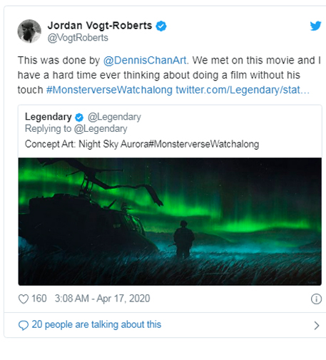 aurora boreale light green kong concept
