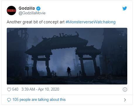 concept art tweet di Godzilla