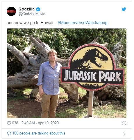 godzilla jurassic park tweet