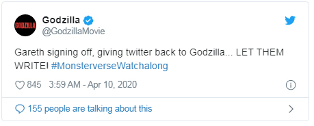Godzilla tweet Let them write