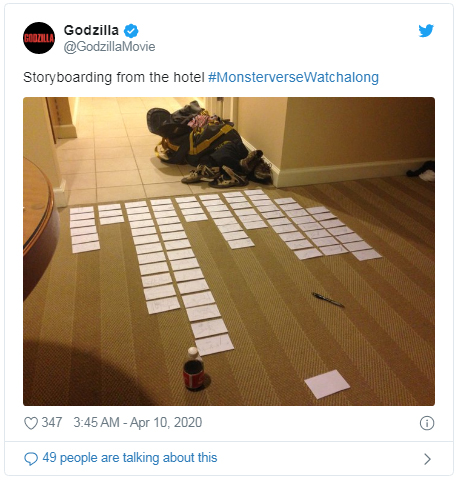 hotel storyboard Godzilla tweet