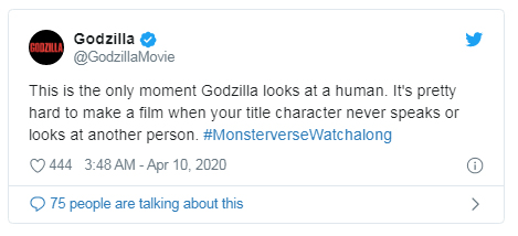 pretty hard tweet Godzilla