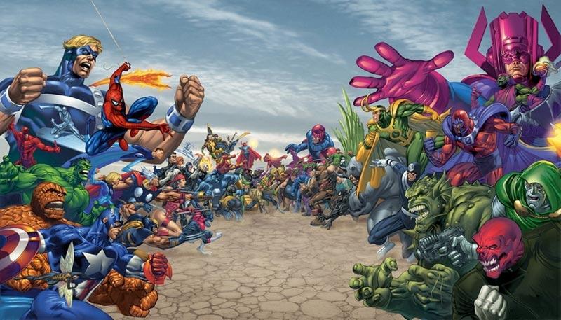 Battaglia supereroi Marvel