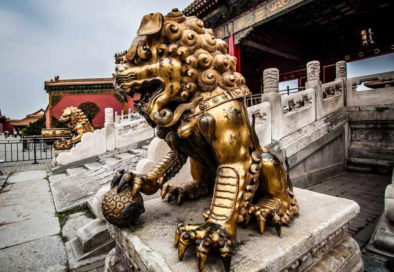 Statua leone cinese
