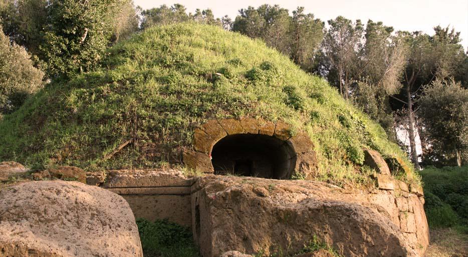 Tomba Etrusca tumulo