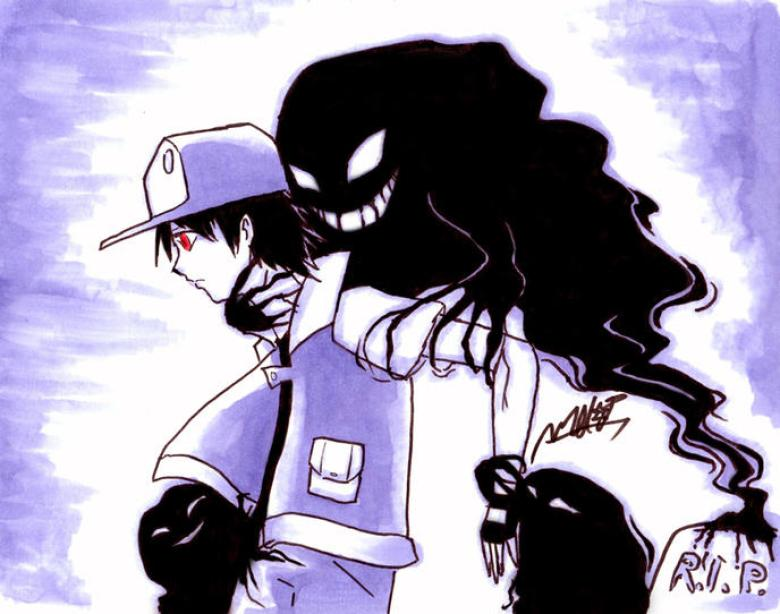 Pokémon Red allenatore con fantasmi