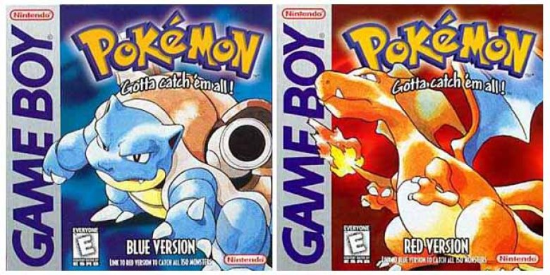 Pokémon Rosso Blu Gameboy cover