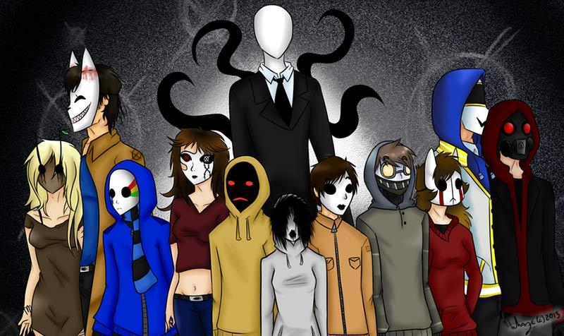 Slenderman personaggi delle Creepypasta