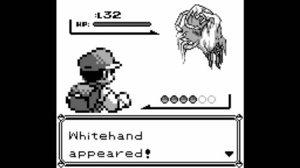 Pokémon prima versione White Hand Sprite