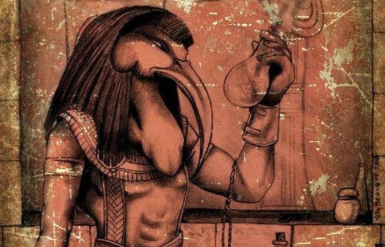 Dio egizio Thoth medicina