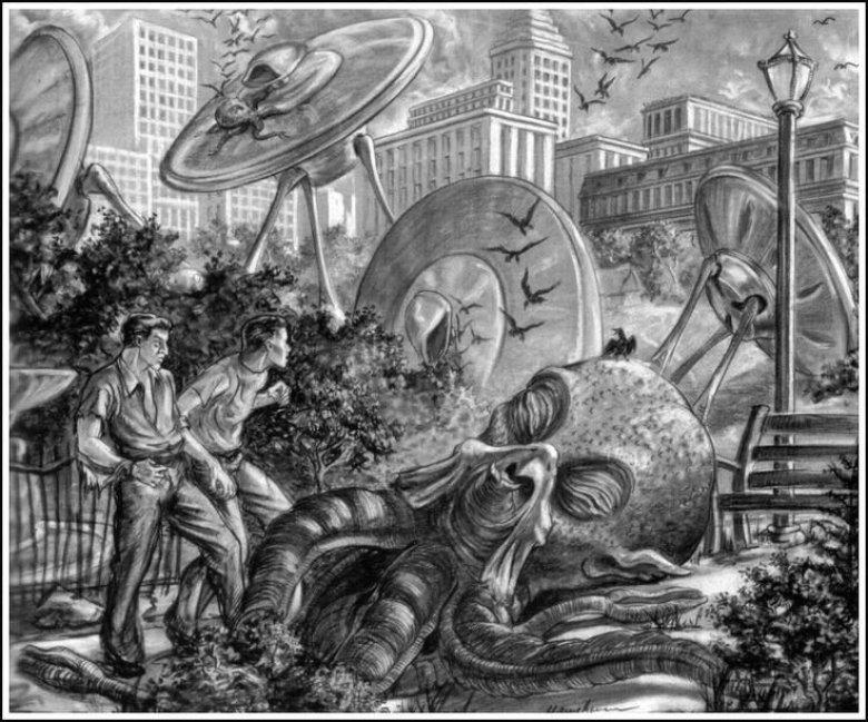 Guerra dei mondi Harryhausen concept art