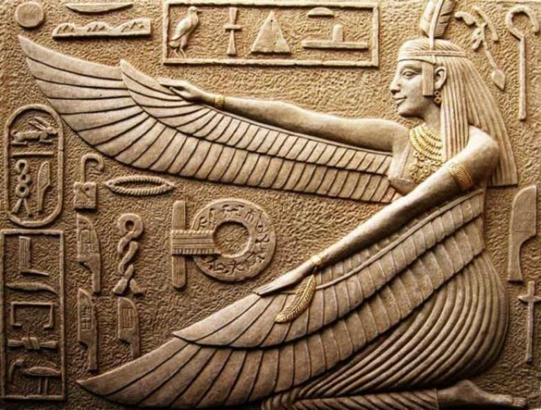 Dea egiziana Maat ali