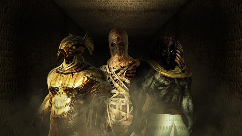 Anubi Horus Mummia artwork bestiario