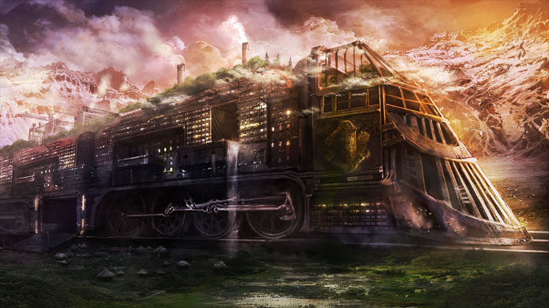 Artwork treno fantasma monster movie