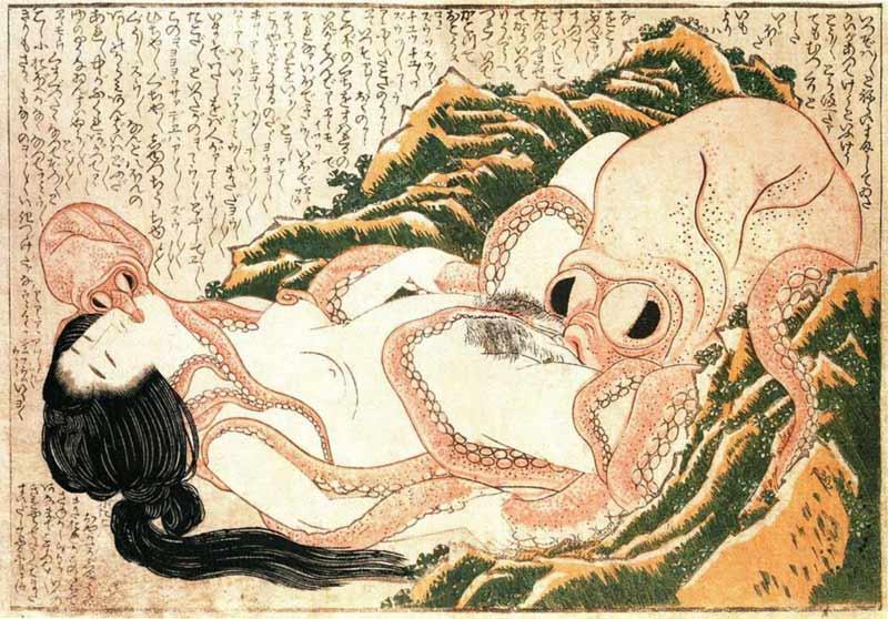 Il sogno di Hokusai stampa giapponese