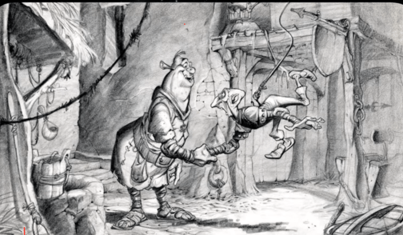 Shrek cartone concept art