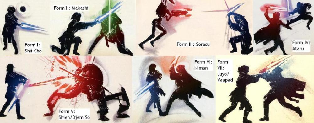 Forme combattimento spada laser Star Wars