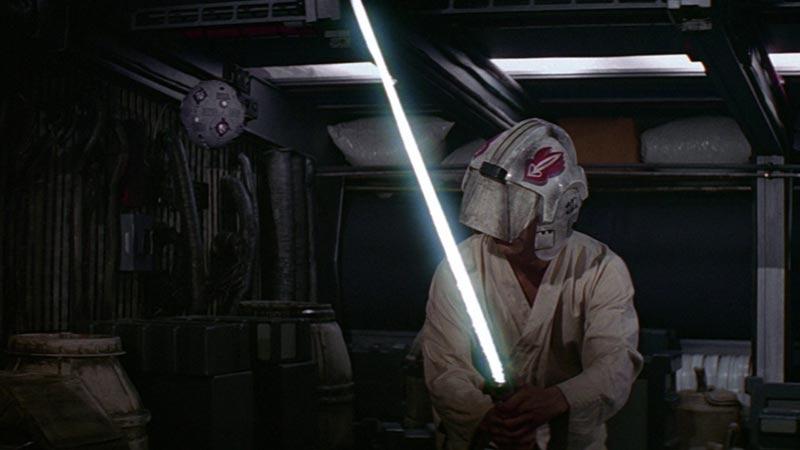 Luke Skywalker addestramento Una nuova speranza