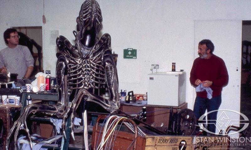 Dietro le quinte Aliens costumi