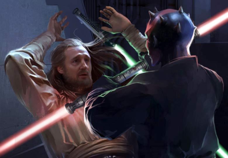 Darth Maul vs Qui-Gon