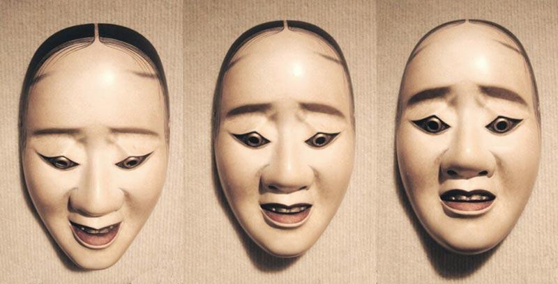 Maschere del teatro Noh giapponese