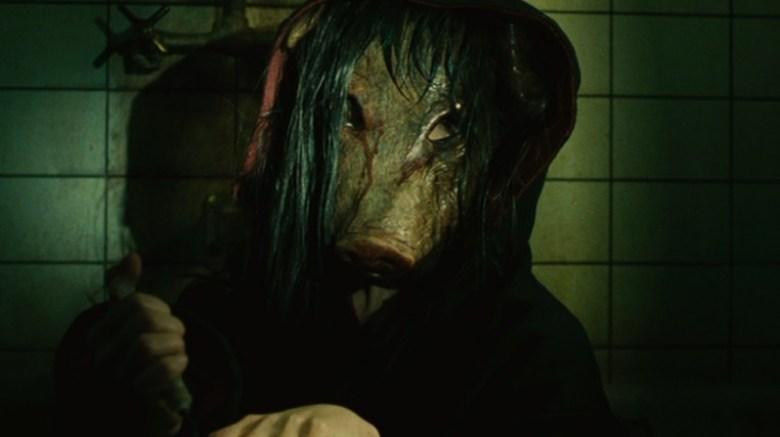 Saw enigmista maschera da porco