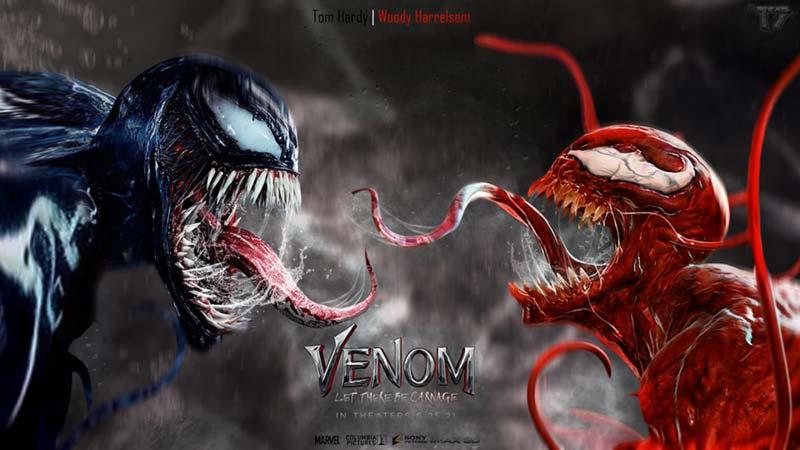 venom vs carnage poster del film