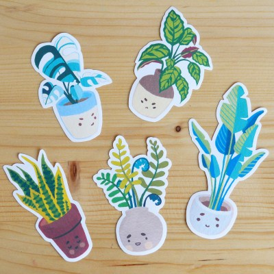 Houseplants sticker pack