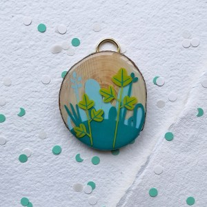 Resin landscape on wood n°2 (small)