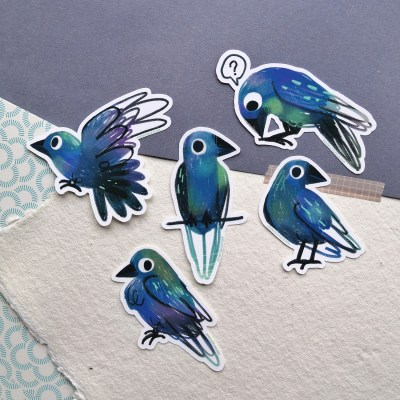 Little crows sticker pack