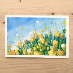 Flower fields – original painting