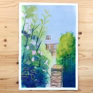 Garden fence – original painting