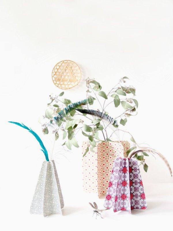 Diy Japanese Inspired Origami Vases Monsterscircus