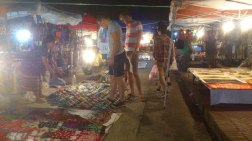 We had a stroll in the night market of LP