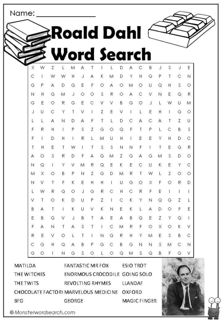 roald dahl word search