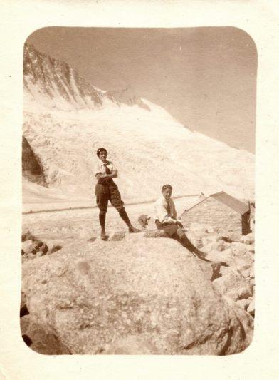 Le glacier des Rognons vu du refuge d'Argentière.