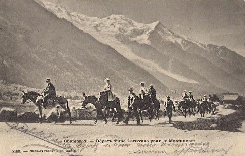 Départ d'une caravane pour le Montanvert