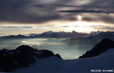 Les Alpes vu du Trient