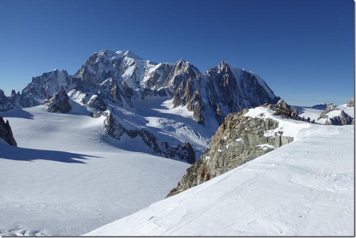 Pointe 3516m et le Mont Blanc