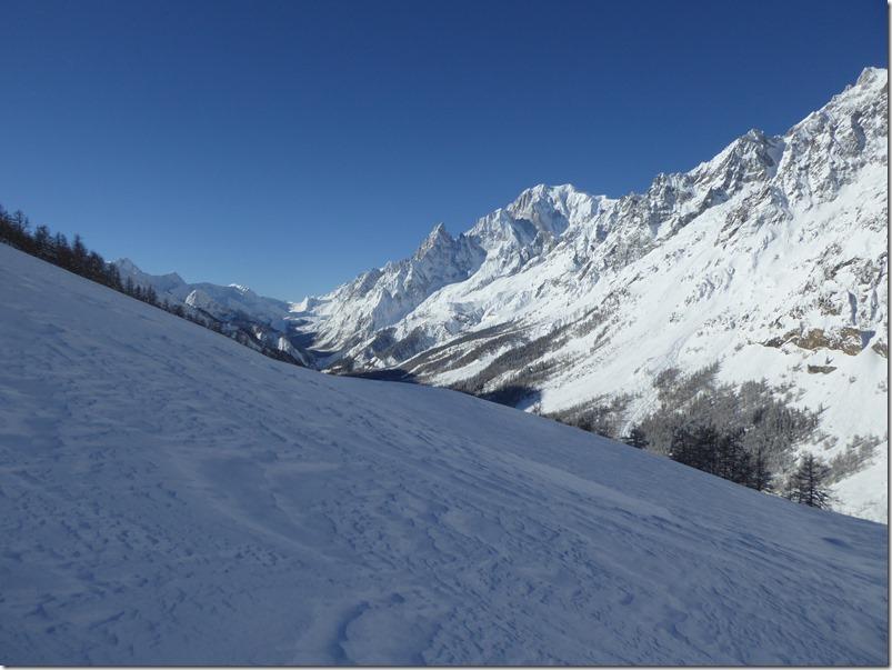 Mont Blanc et col de la Seigne