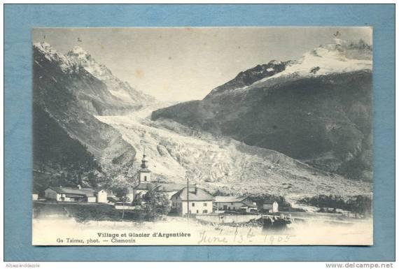 Village et Glacier d'Argentière