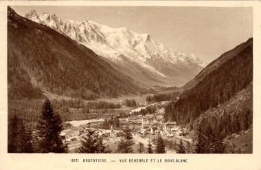 Argentière et le Mont Blanc