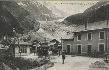 Glacier d'Argentières et gare PLM