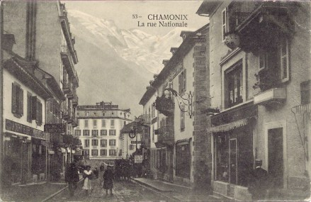 Chamonix La rue Nationale