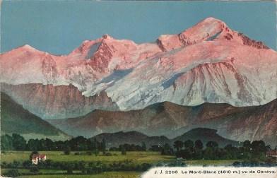 Le Mont-Blanc vu de Genève
