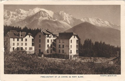 Praz-Coutant et la chaîne du Mont-Blanc