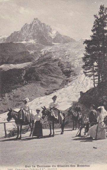 Sur la terrasse du Glacier des Bossons