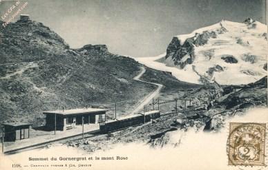 Sommet du Gornergrat et le mont Rose