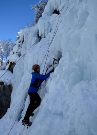 Cascade de glace Notre-Dame de la Gorge